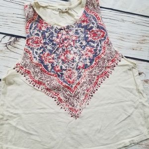 Billabong Red, White, and Blue Hanky Crop Top